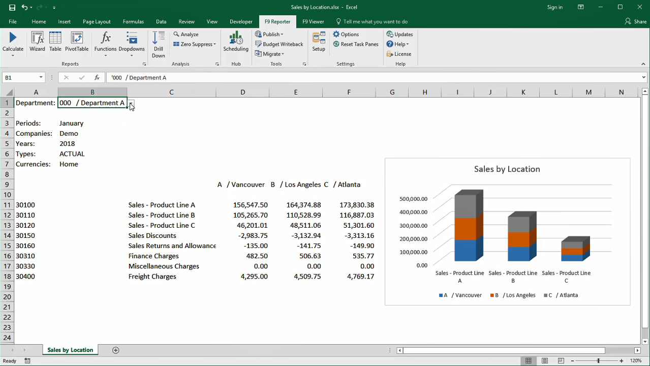 F9 for QuickBooks   F9 Financial Reporting